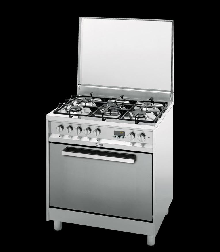 Cucina 80×60 Hotpoint Ariston CP87SEA/HAS forno ventilato, griglie ...